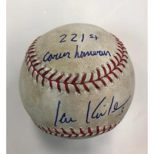 Photo of Autographed Player Collected Baseball: Ian Kinsler's 221st Career Home Run