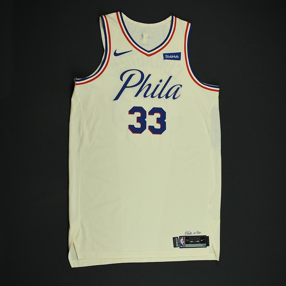 Robert Covington - Philadelphia 76ers - Game-Worn 'City' Jersey - 2017-18 Season