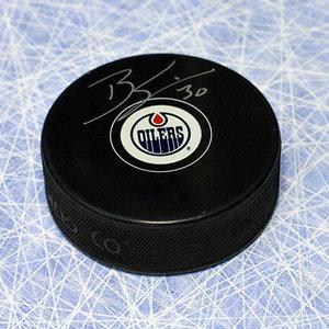 Ben Scrivens Edmonton Oilers Autographed Hockey Puck