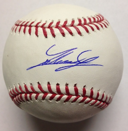 Photo of Johnny Cueto Autographed Baseball