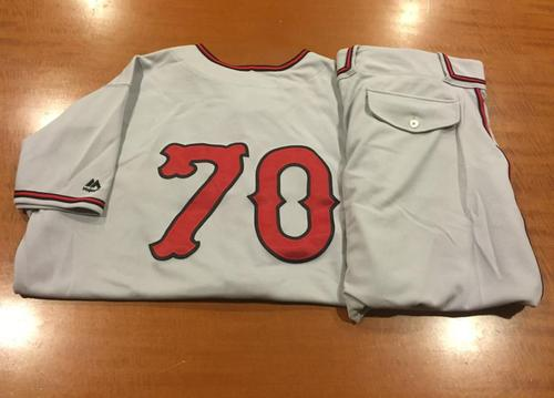 Photo of Jumbo Diaz Game-Used Cincinnati Tigers Uniform