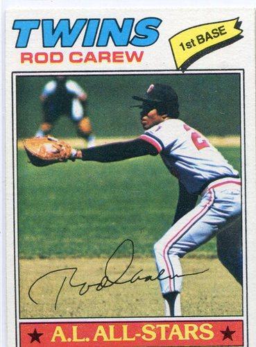 Photo of 1977 Topps #120 Rod Carew -- Hall of Famer