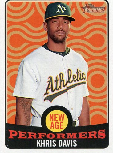 Photo of 2017 Topps Heritage New Age Performers #NAP24 Khris Davis
