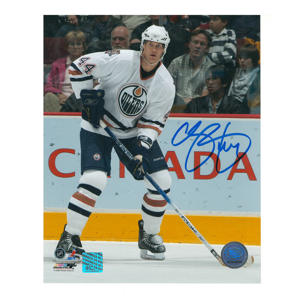 CHRIS PRONGER Signed Edmonton Oilers 8 X 10 Photo - 70290