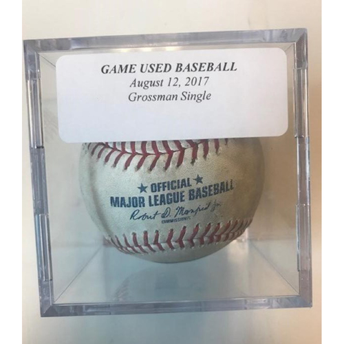 Photo of Game-Used Baseball: Robbie Grossman Single