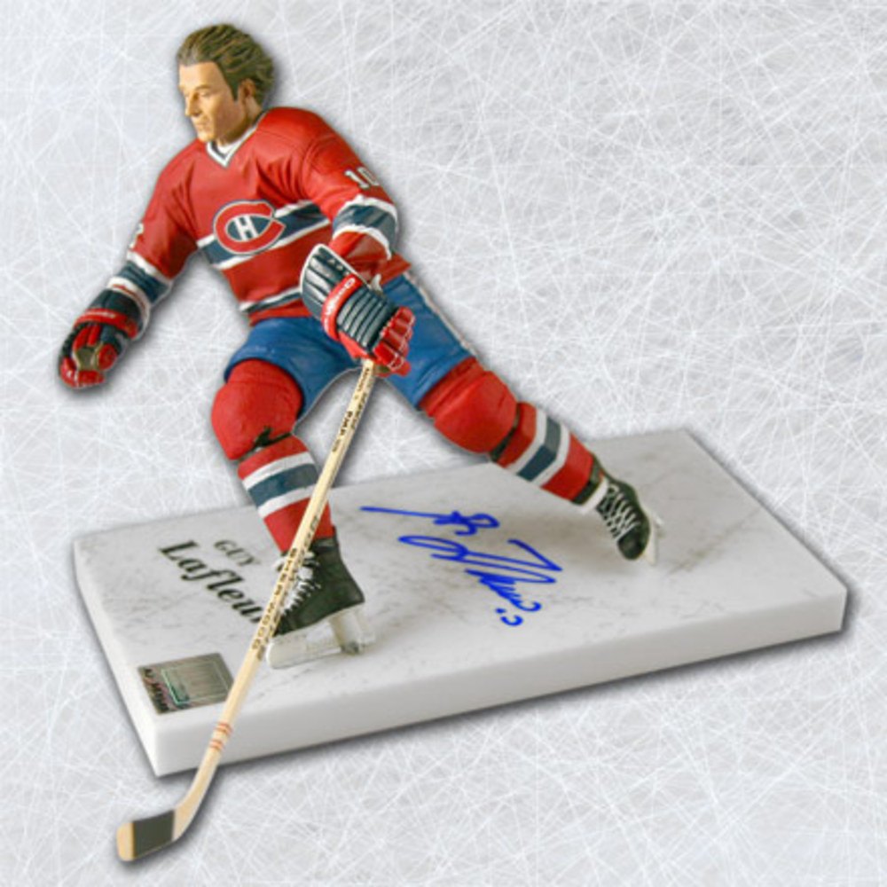 Guy LaFleur Montreal Canadiens Autographed McFarlane Sports Picks Figure