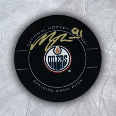 MAGNUS PAAJARVI Edmonton Oilers SIGNED NHL Game Puck