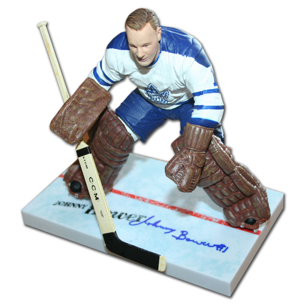 Johnny Bower Autographed Toronto Maple Leafs McFarlane Figurine