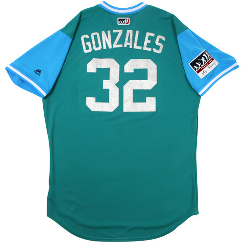 "Photo of Marco ""Gonzales"" Gonzales Seattle Mariners Game-Used Players Weekend Jersey"