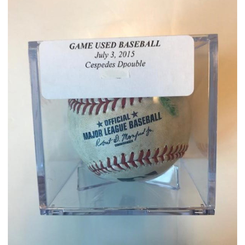 Photo of Game-Used Baseball: Yoenis Cespedes Double