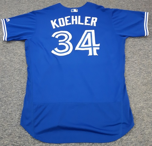 Photo of Authenticated Team Issued Jersey - #34 Tom Koehler (2017 Season). Size 50.