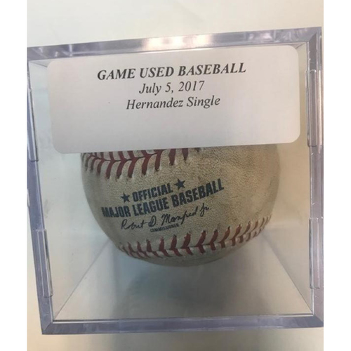 Photo of Game-Used Baseball: Gorkys Hernandez Single