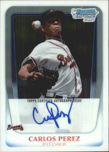 Photo of 2011 Bowman Chrome Prospect Autographs #BCP108 Carlos Perez