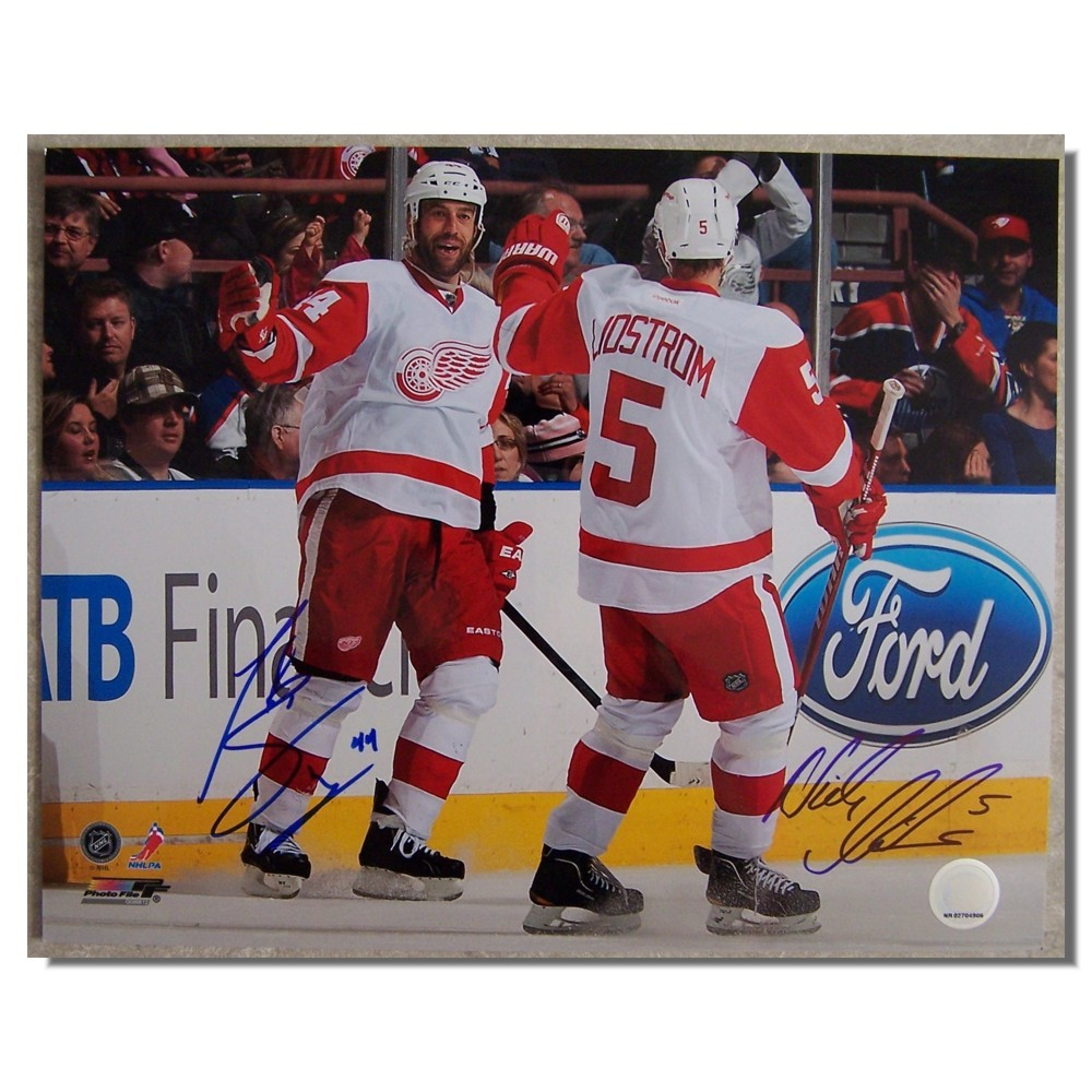 Nick Lidstrom and Todd Bertuzzi Autographed Detroit Red Wings 11x14 Photo