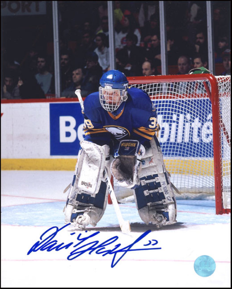 DOMINIK HASEK Buffalo Sabres SIGNED 16x20 Dominator Goalie Photo