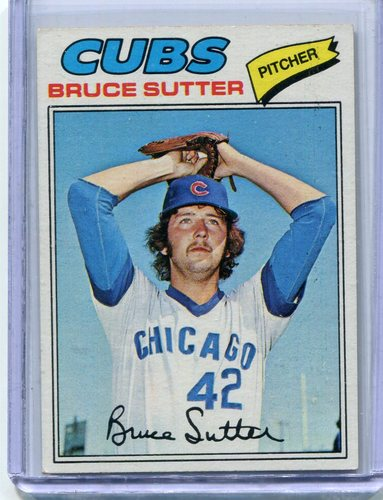 Photo of 1977 Topps #144 Bruce Sutter Rookie Card -- Hall of Famer