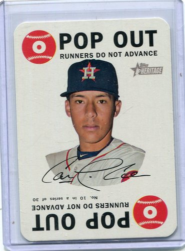 Photo of 2017 Topps Heritage Topps Game #10 Carlos Correa