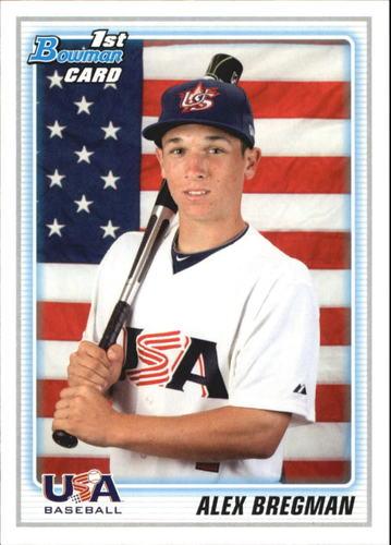 Photo of 2010 Bowman Draft Prospects #BDPP95 Alex Bregman  -- Astros post-season
