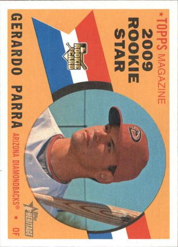 Photo of 2009 Topps Heritage #578 Gerardo Parra Rookie Card -- Rockies post-season
