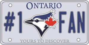 Toronto Blue Jays #1 Fan Ontario License Plate Pin by Bulletin