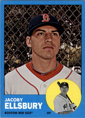 Photo of 2012 Topps Heritage #115C Jacoby Ellsbury WM SP