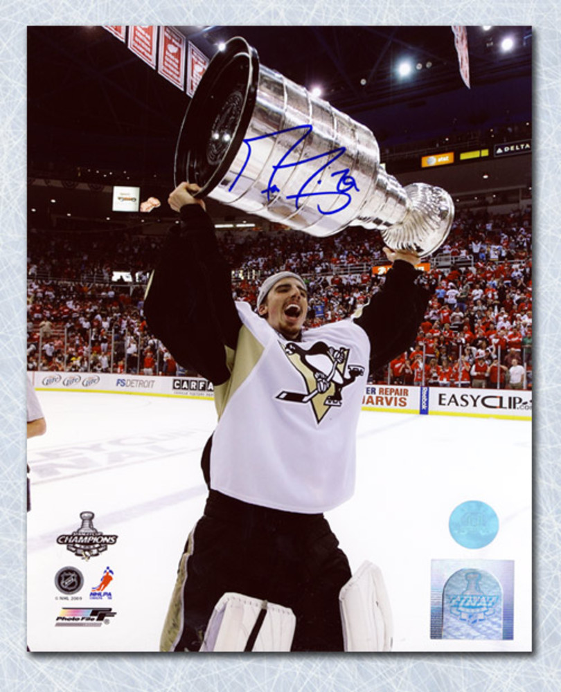 Marc-Andre Fleury Pittsburgh Penguins Autographed 2009 Stanley Cup 8x10 Photo