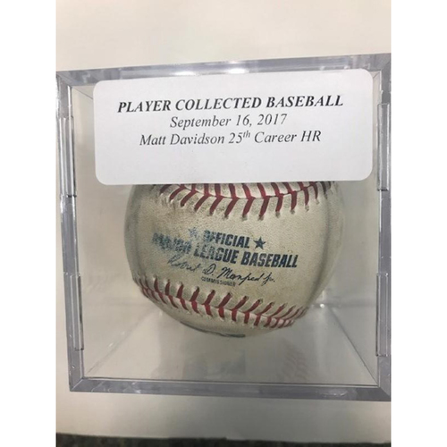 Photo of Player Collected Baseball: Matt Davidson 25th Career Home Run