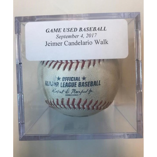 Game-Used Baseball: Jeimer Candelario Walk