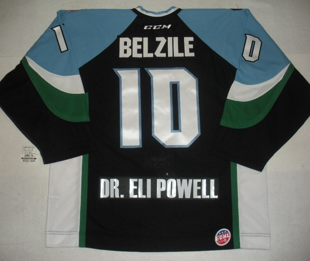 Alex Belzile - 2014 Kelly Cup Finals - Alaska Aces - Black Game-Issued Jersey - Game 4