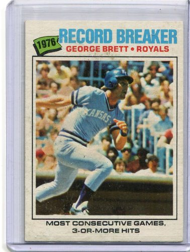 Photo of 1977 Topps #231 George Brett Record Breaker