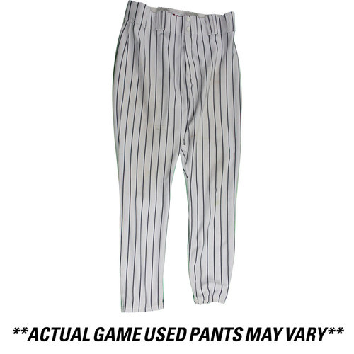 Photo of Aaron Hicks New York Yankees 2016 Team Issued #31 Home Pants (38-43-36)