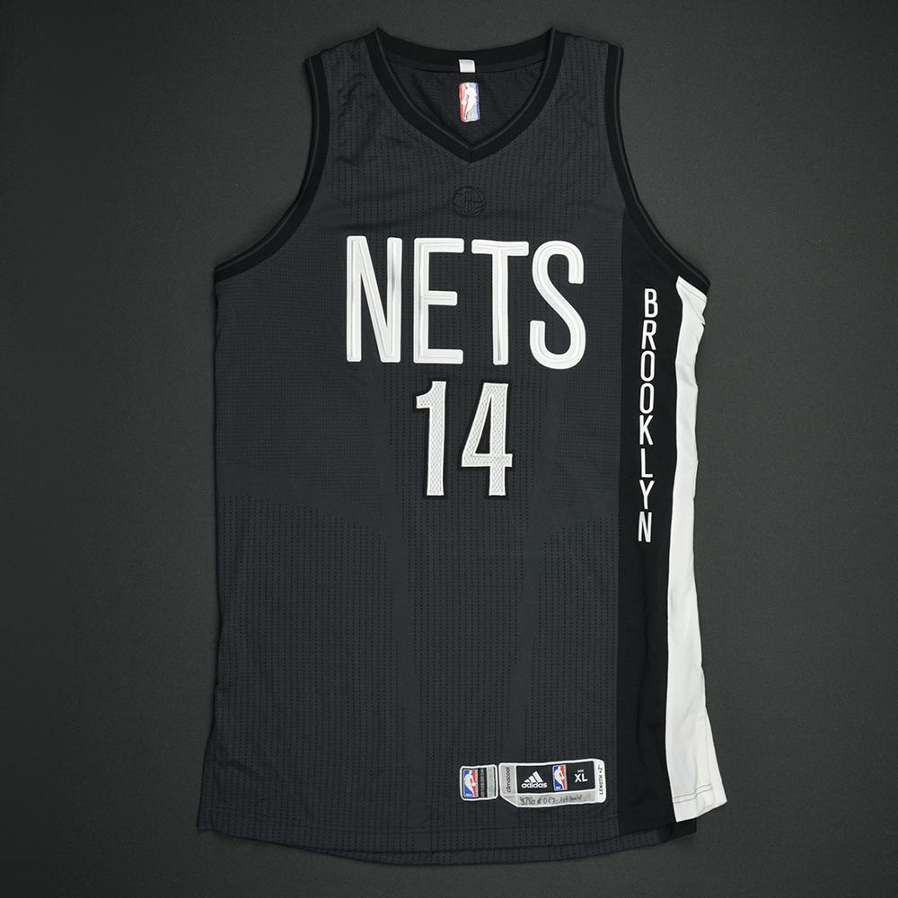 KJ McDaniels - Brooklyn Nets - Game-Issued Black Alternate Jersey - 2016-17 Season
