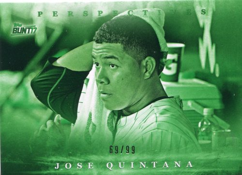 Photo of 2017 Topps Bunt Perspectives Green 69/99 Jose Quintana Cubs post-season