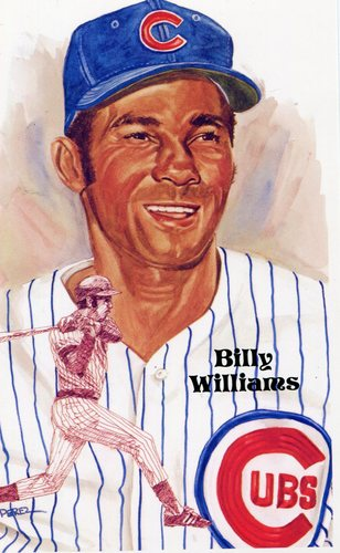 Photo of 1980-02 Perez-Steele Hall of Fame Postcards #199 Billy Williams -- Set #08689