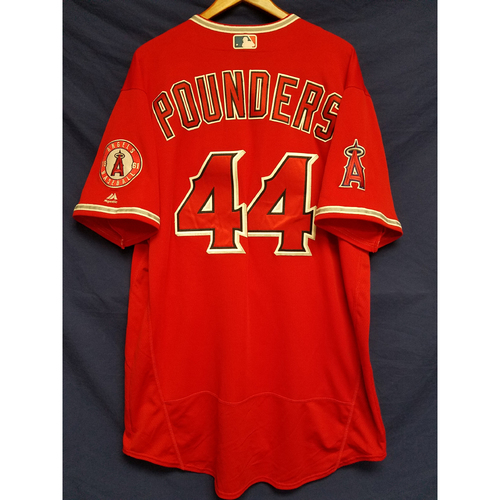 Photo of Brooks Pounders Team-Issued Alternate Red Jersey