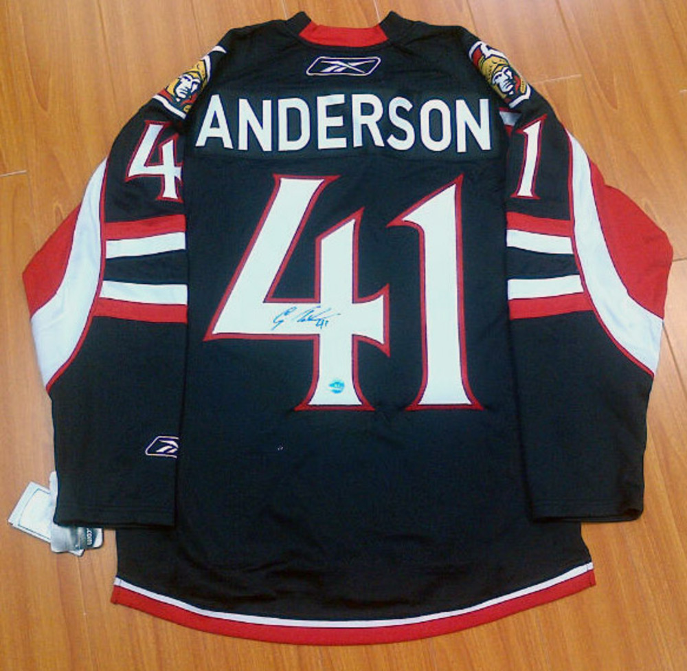 CRAIG ANDERSON Autographed Ottawa Senators Reebok Premier Jersey *Size Medium*