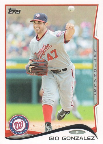 Photo of 2014 Topps #523 Gio Gonzalez