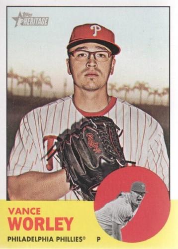 Photo of 2012 Topps Heritage #116 Vance Worley