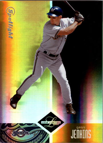 Photo of 2004 Leaf Limited Gold Spotlight #38 Geoff Jenkins