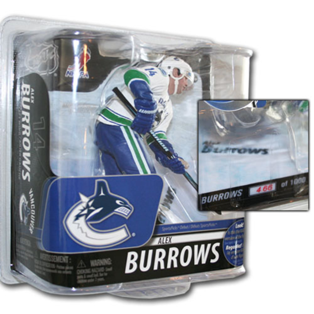 Alex Burrows (Vancouver Canucks) Silver Collector Level McFarlane Figurine - #466/1000
