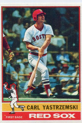 Photo of 1976 Topps #230 Carl Yastrzemski Hall of Famer