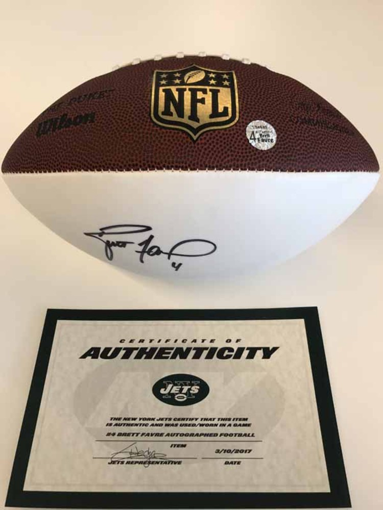 New York Jets - Brett Favre - Autographed Football