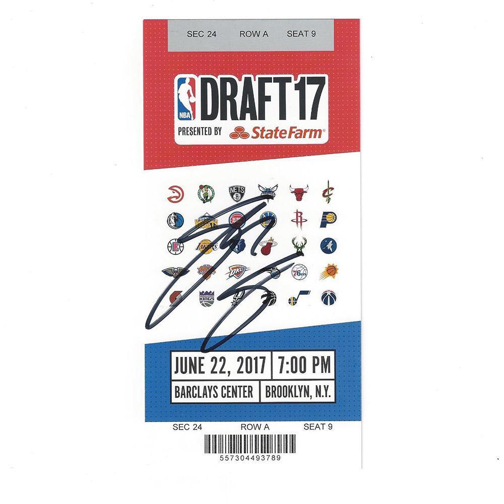 Josh Jackson - Phoenix Suns - 2017 NBA Draft - Autographed Draft Ticket