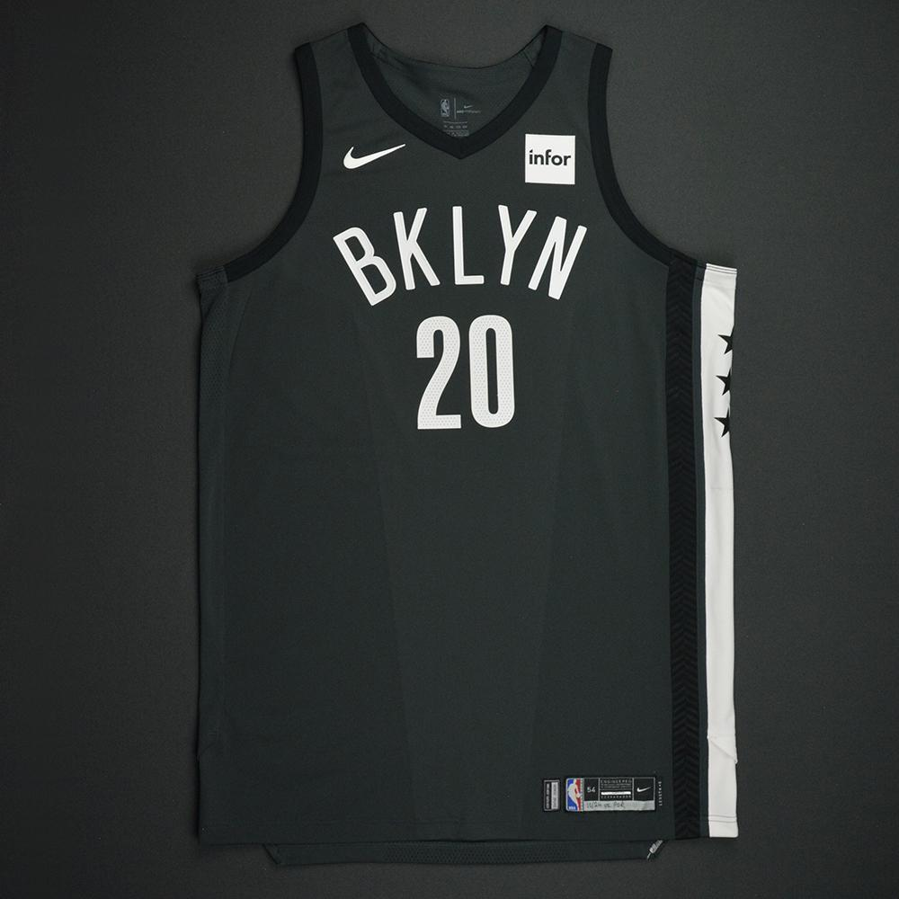 Timofey Mozgov - Brooklyn Nets - Statement Game-Worn Jersey - Dressed, Did Not Play - 2017-18 Season