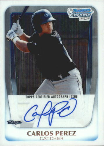 Photo of 2011 Bowman Chrome Prospect Autographs #BCP113 Carlos Perez