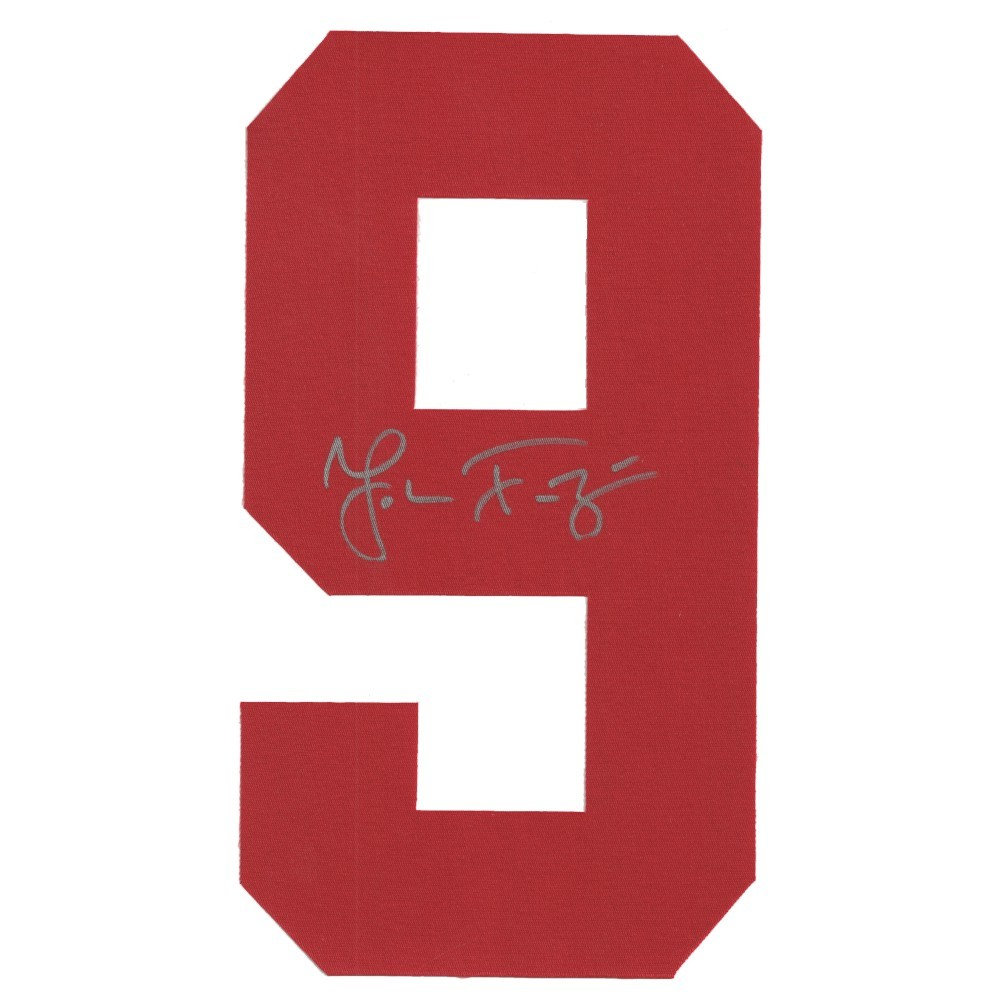 Johan Franzen Autographed Detroit Red Wings Red Twill Jersey Number