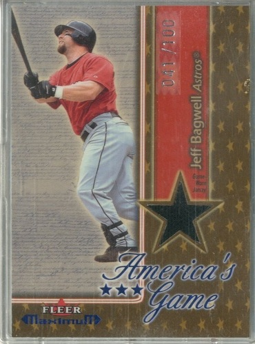 Photo of 2002 Fleer Maximum Americas Game Jersey Gold #1 Jeff Bagwell
