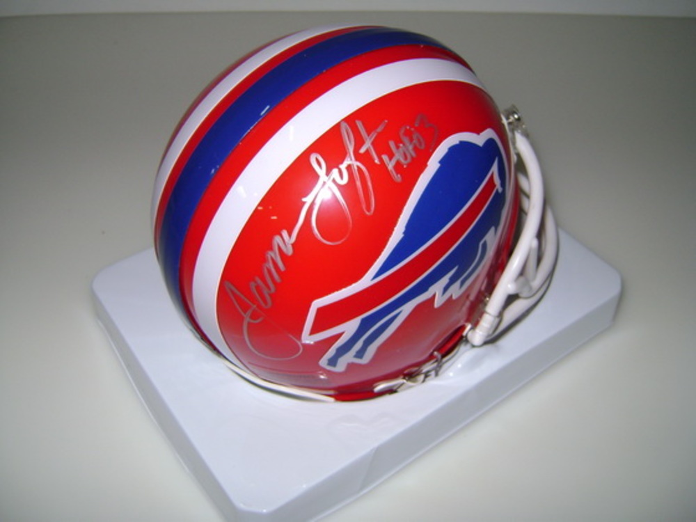 HOF - BILLS JAMES LOFTON SIGNED BILLS MINI HELMET