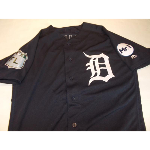 Photo of Game-Used Mikie Mahtook Home Spring Training Jersey