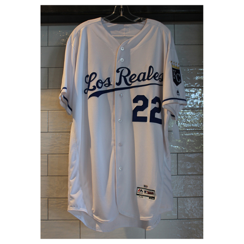 Photo of Game-Used Don Wakamatsu Los Reales jersey (6/24/17 TOR at KC) (Size 48)